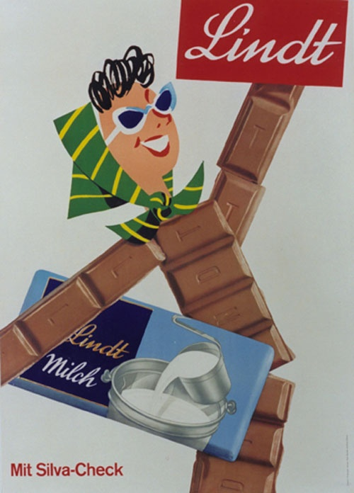 Swiss chocolate poster for Lindt (illustrating my body composition after decades of chocolate consumption)