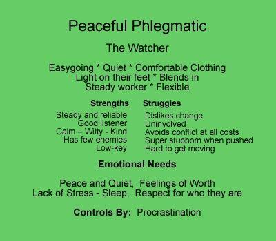 The phlegmatic temperament