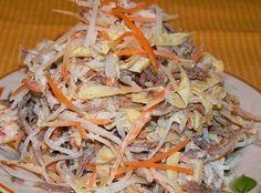 Самые вкусные рецепты: Мясной салат с редькой дайкон