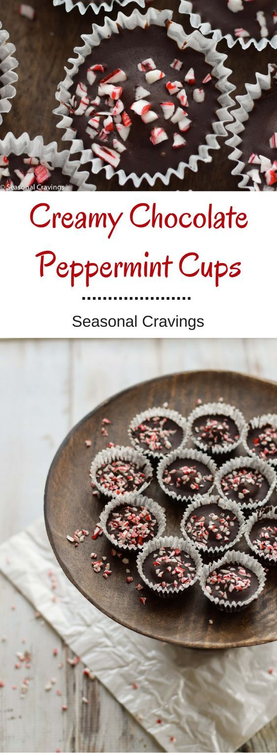Creamy Chocolate Peppermint Cups - dangerously delicious cups full of chocolatey goodness. {gluten free}