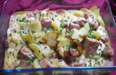 Bratkartoffel-Leberkäse-Auflauf (Resteverwertung)