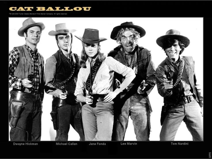 Dwayne Hickman, Michael Callan, Jane Fonda, Lee Marvin, Tom Nardini. Cat Ballou (1965)