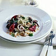 Grilled Squid and Plum Salad with Cilantro, Mint and Peanuts... can't wait for plum season!