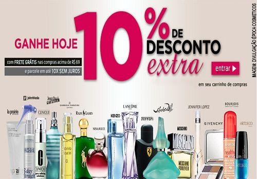 Cupom de desconto Época Cosméticos com 10% de desconto em perfumes, maquiagem e cosméticos  http://desconto.gratis/cupom/cupom-epoca-cosmeticos-10-de-desconto/  #CuponsDeDesconto