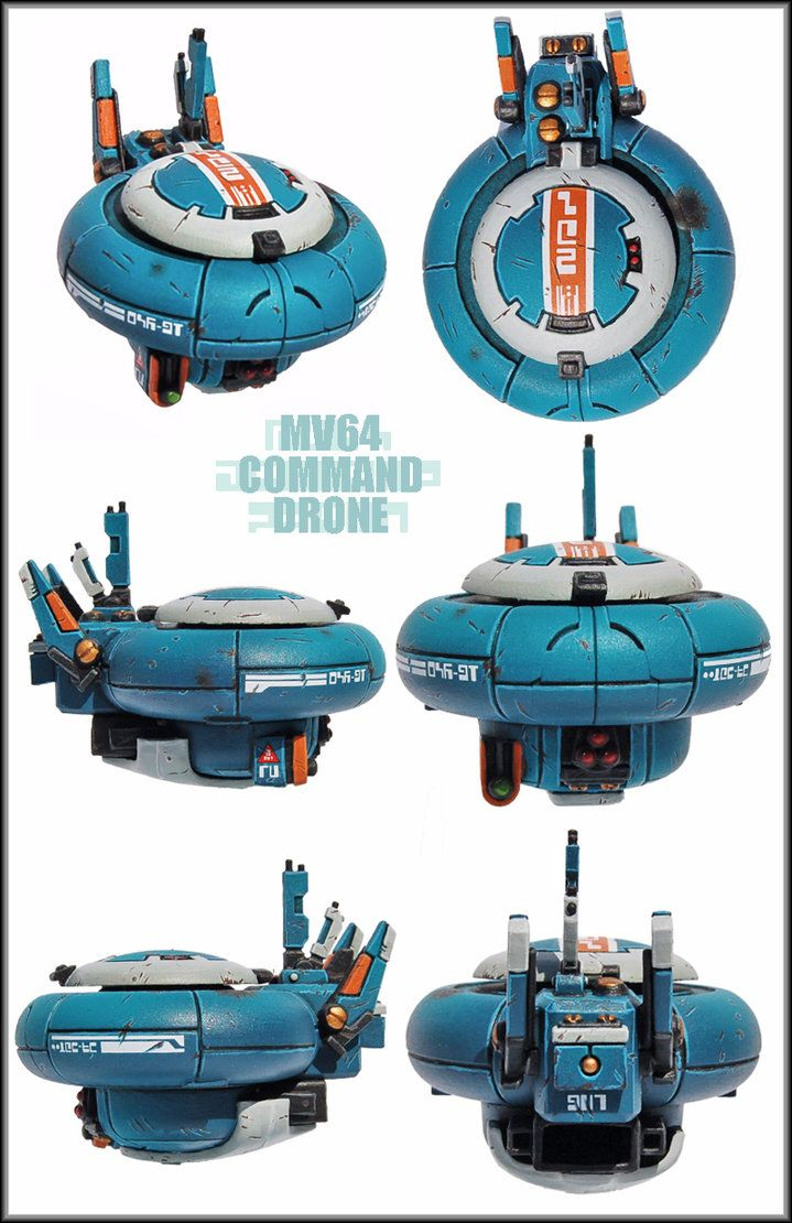 MV64 Tau Command Drone by Proiteus on DeviantArt