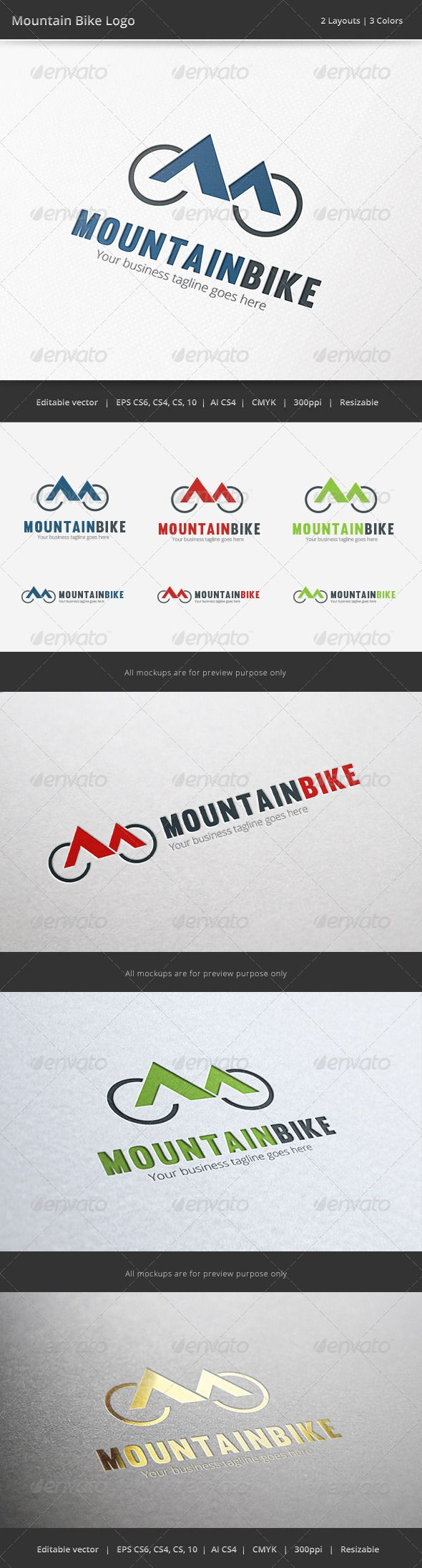 Mountain Bike Bicycle Logo — Vector EPS #sport #mountain • Available here → https://graphicriver.net/item/mountain-bike-bicycle-logo/6575435?ref=pxcr