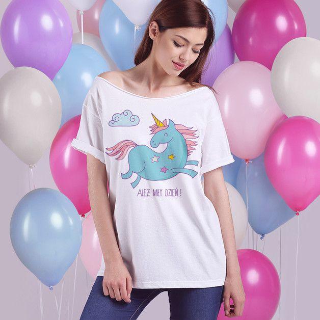 S-XXL ALEŻ MIŁY DZIEŃ KRÓTKI BIAŁY OVERSIZE - onemugaday - Koszulki i bluzy