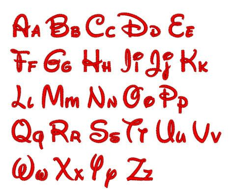 """Instant Download - Disney 233  -  Machine Embroidery Font  -  Sizes 0.50  """",1.00  """",1.50  """""""