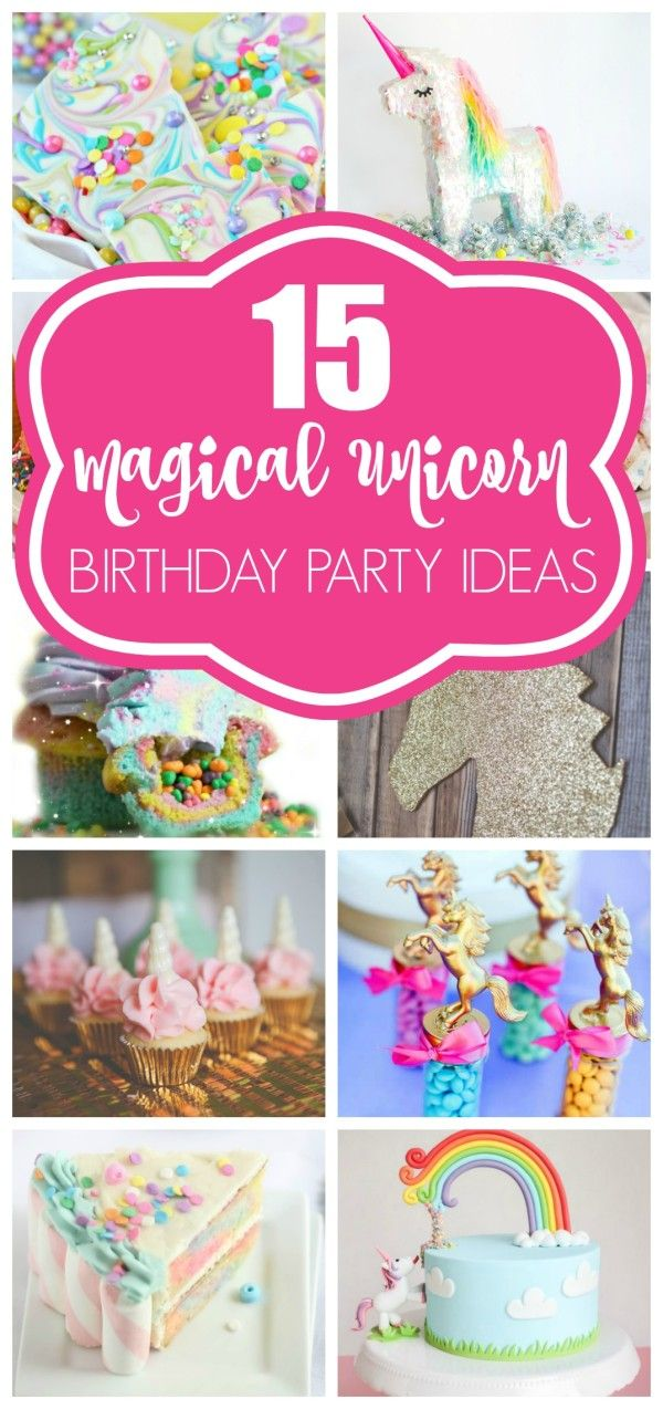 15 AWESOME Unicorn Party Ideas on prettymyparty.com