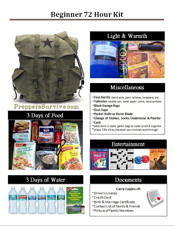 Bug Out Bag Essentials for Beginners - Preppers Survive
