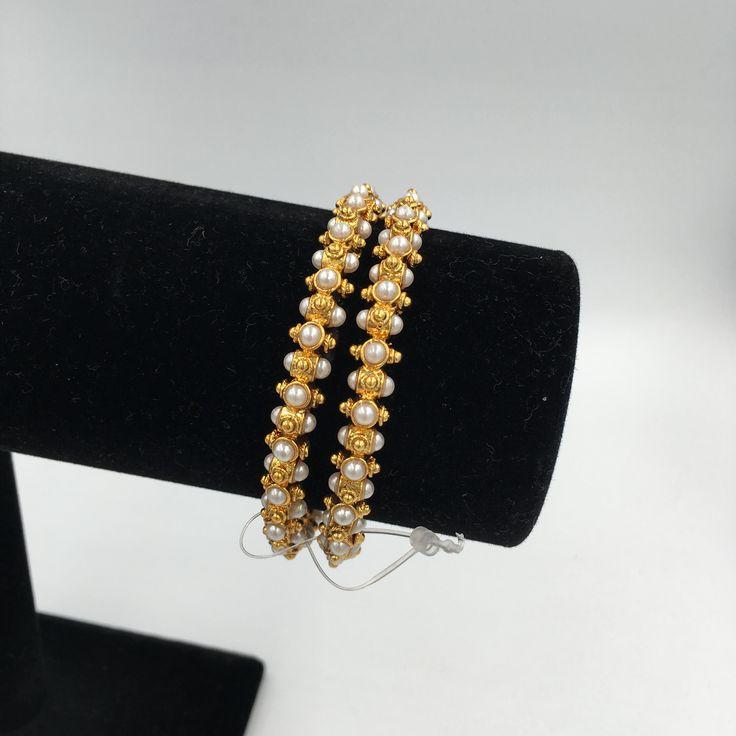 Golden Moti bangles - Set of 2 bangles