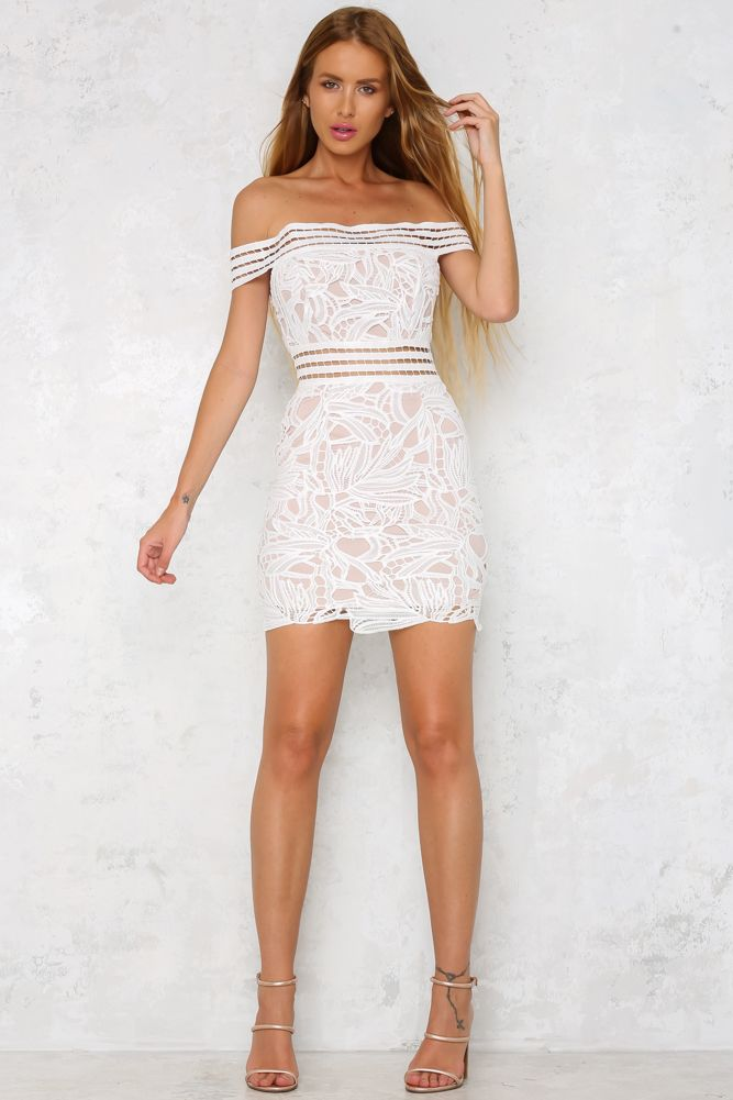 HelloMolly | Your Girl Dress White - New In