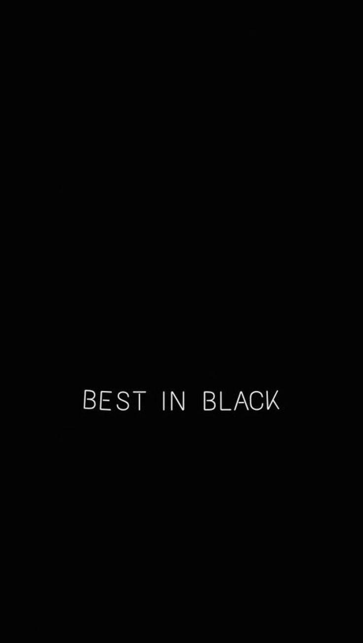 just love black ;)