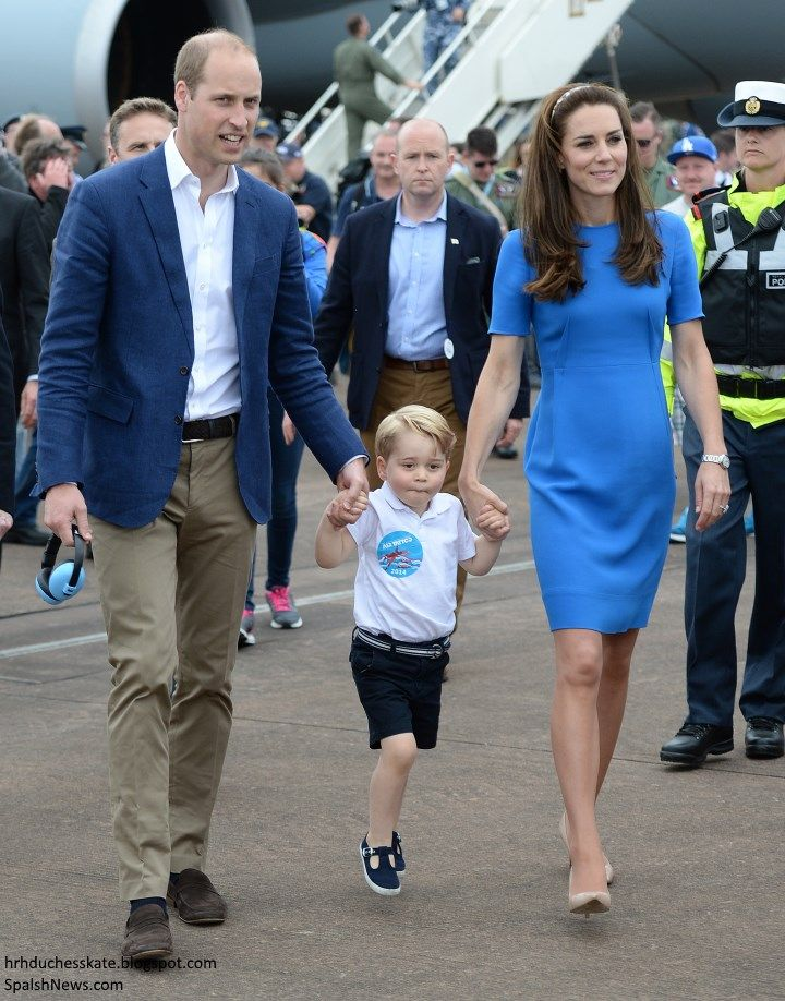Friday, 8 July 2016 The Cambridges Take Prince George to the World's Greatest Airshow The Duke and Duchess of Cambridge visited the Royal International Air Tattoo at RAF Airford, Gloucestershire today, with a very special guest!