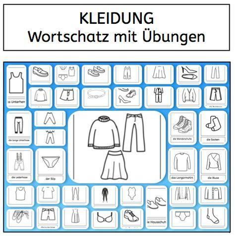wortschatz kleidung daz wortschatz fremdsprache und deutsch als zweitsprache. Black Bedroom Furniture Sets. Home Design Ideas