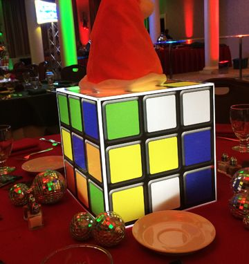 Rubik 39 s cube decor and 80s party on pinterest for 80s decoration ideas