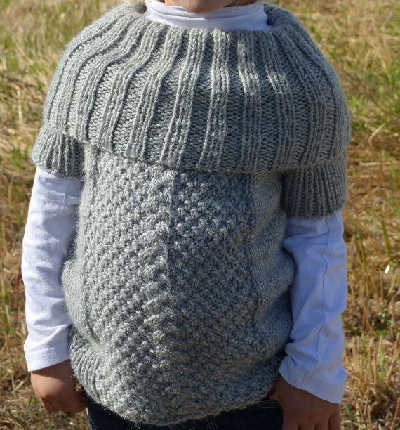 Knitted sweater pattern / Kid's knit sweater / por KnotEnufKnitting