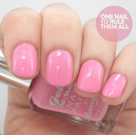 Barry M Gelly Hi-Shine - Dragon Fruit / OneNailToRuleThemAll beautiful good quality pink nail polish