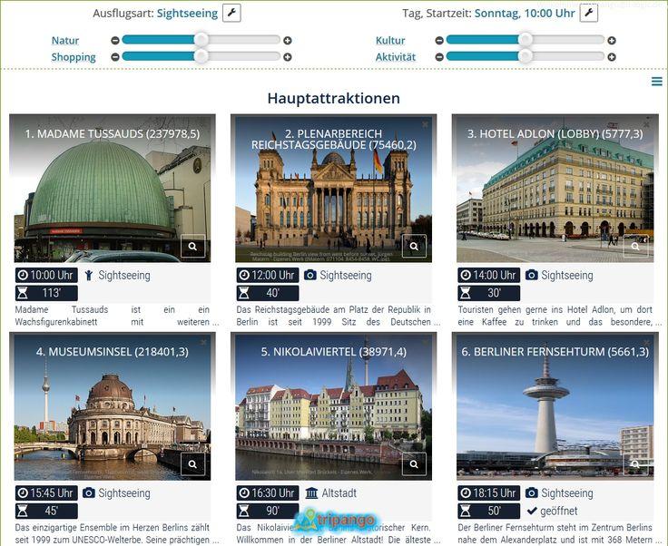 Reise nach Berlin: Route mit allen Sehenswürdigkeiten, die Deinem Geschmack entsprechen, einfach berechnen lassen. Mit einem Klick