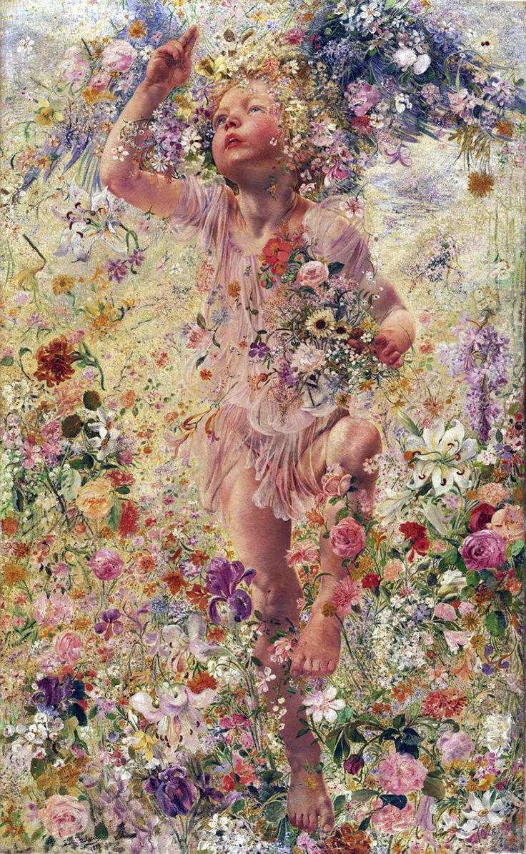 Léon Frédéric (Belgian, 1856-1940). The Four Seasons: Spring, 1893. Philadelphia Museum of Art: