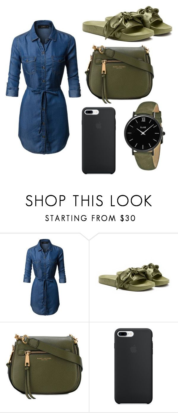 """""""Outing outfit"""" by frazier-denasia ❤ liked on Polyvore featuring LE3NO, Puma, Marc Jacobs and CLUSE"""