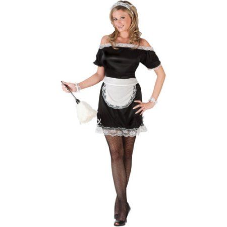 French Maid Adult Halloween Costume, Women's, Size: Medium, Blue