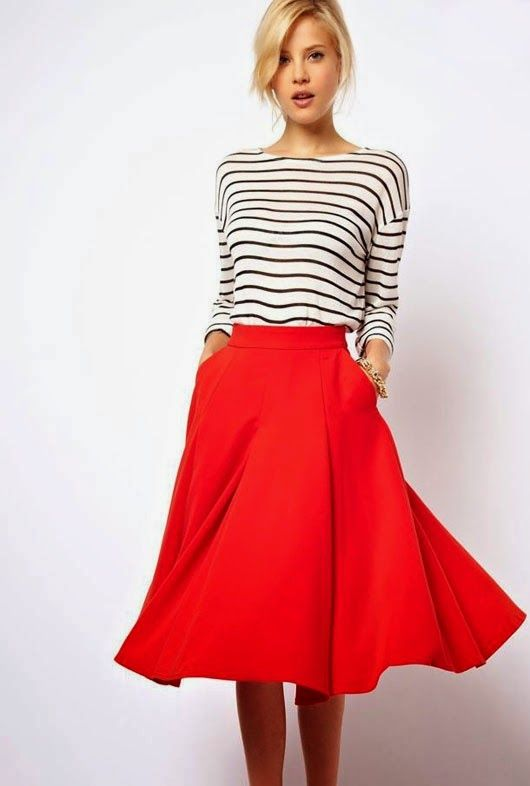 ADORED VINTAGE: How To Wear A Vintage Circle Skirt | Style Notes