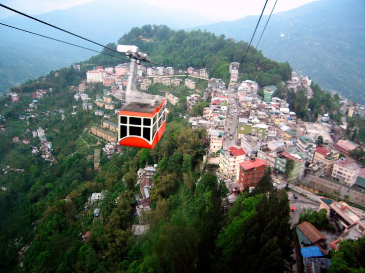 Ropeway-cable-car over Gangtok, Sikkim. Explore Eastern India with us! http://www.kennethphotography.com/india