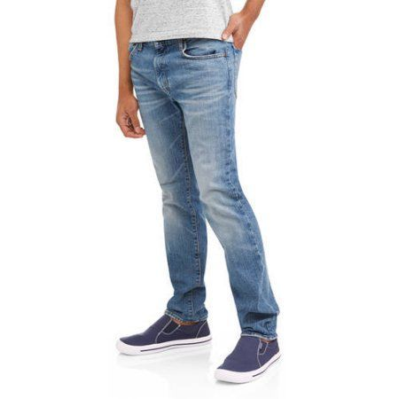 Oh Mamma Maternity Demi Panel Stretch Skinny 5 Pocket Jeans with Contrast Stich Pockets