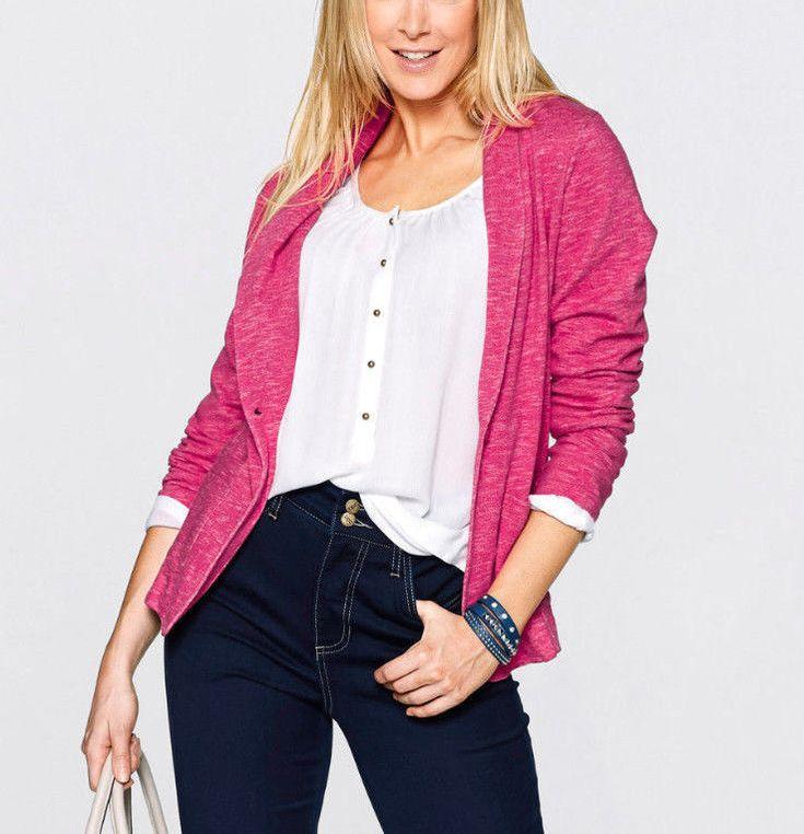 Damen Jacke Blazer Sweatblazer  Pink Neu Gr.42