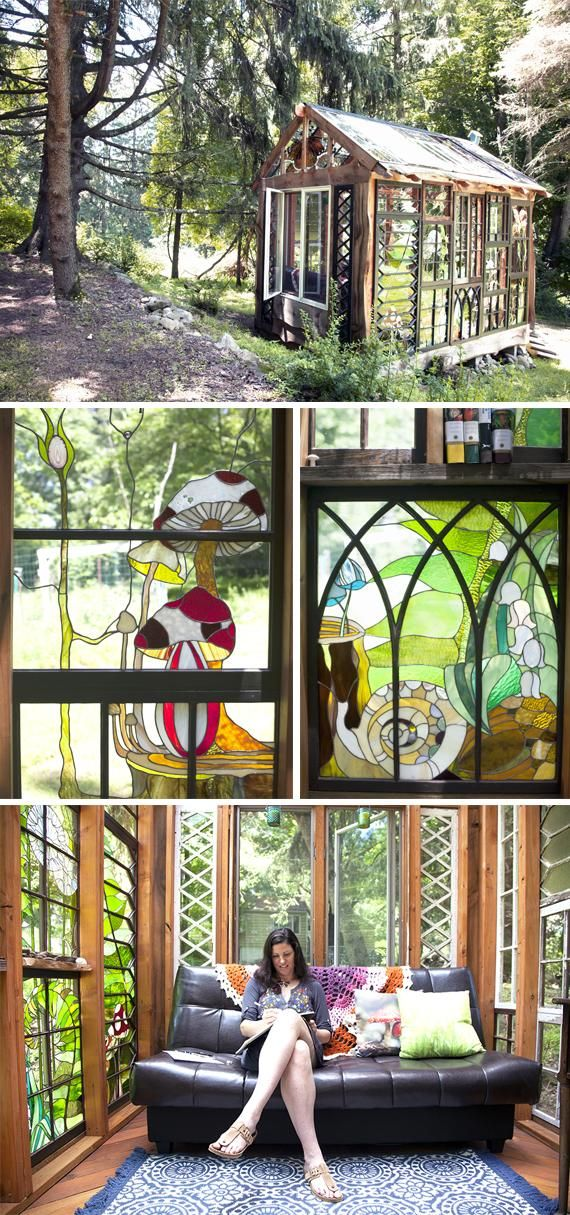 Today in the Seller Handbook, explore designer Neile Cooper's creative sanctuary: a woodland cabin with walls and a ceiling composed completely of her meticulous stained-glass designs.