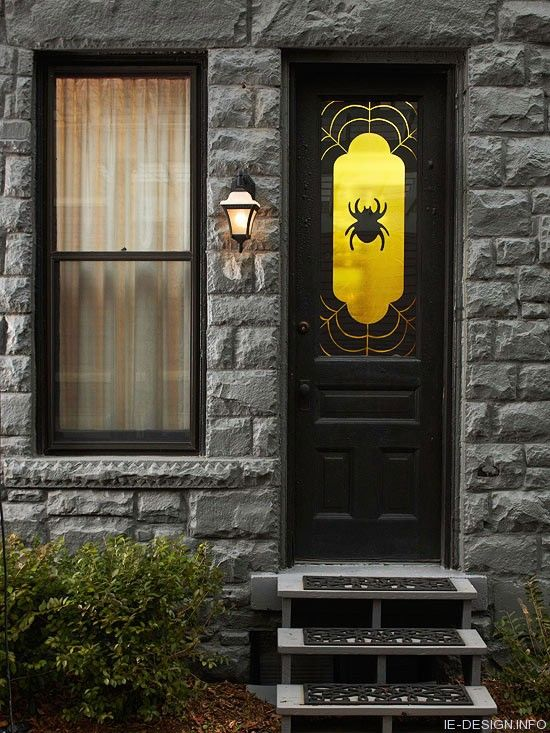 spooky spider window decoration add a window covering to your front door to welcome the spooky season