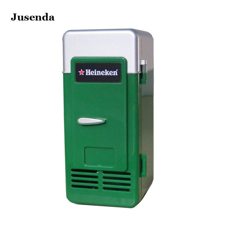 Green Fashion mini Refrigerator fridge cooling drink ABS plastic USB camping fridge Small refrigerator freezer kitchen appliance
