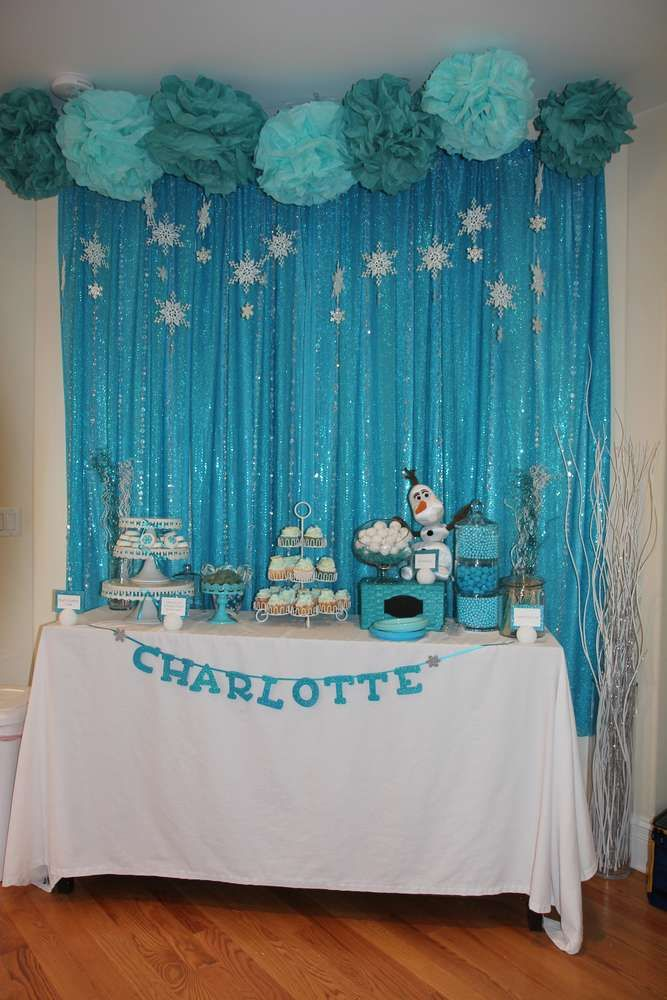 Frozen Birthday Party Ideas | Photo 9 of 47 | Catch My Party