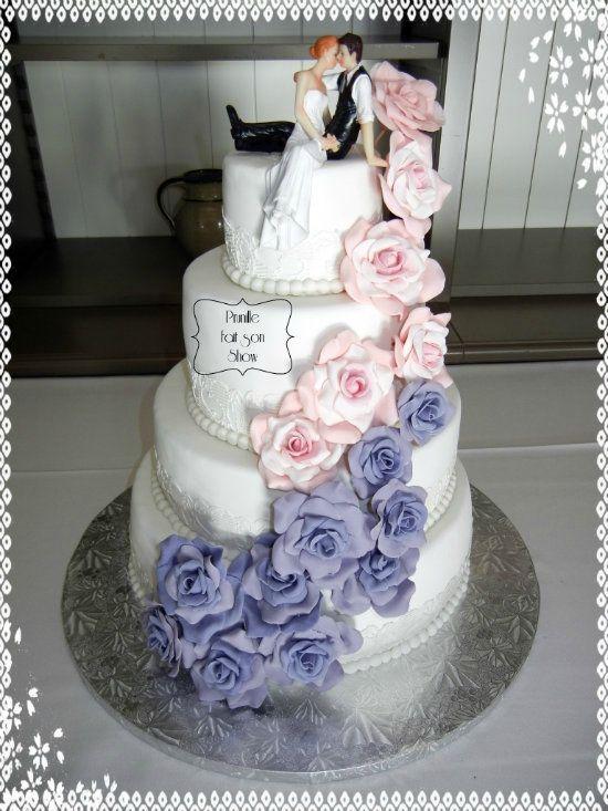 ... gateau  Pinterest  Mariage, Mariage et Gâteaux de rose de mariage