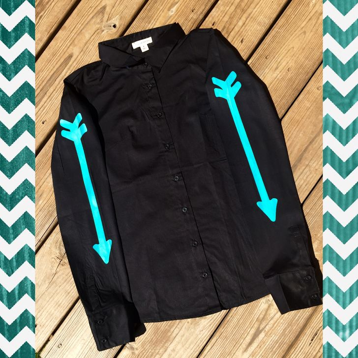 BLACK RODEO SHIRT WITH TURQUOISE ARROWS - Ranch Dress'n