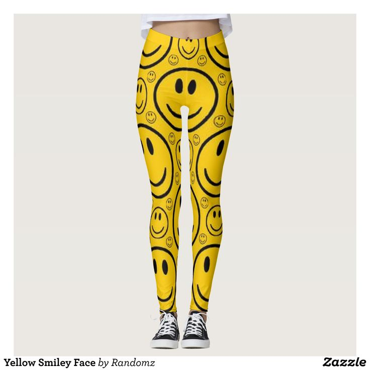 Yellow Smiley Face Leggings : Beautiful #Yoga Pants - #Exercise Leggings and #Running Tights - Health and Training Inspiration - Clothing for #Fitspiration and #Fitspo - #Fitness and #Gym #Inspo - #Motivational #Workout Clothes - Style AND #comfort can both be possible in one perfect pair of custom #leggings. #Yellow Smiley Face Leggings was crafted made with care each pair of leggings is printed before being sewn allowing for #fun and #creative designs on every square inch - Medium weight…