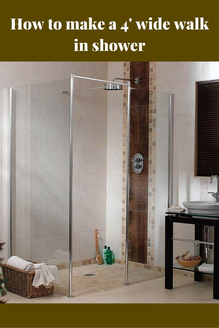 how to build a wet room shower