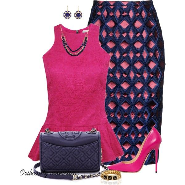 """Navy & Pink"" by oribeauty-cosmeticos on Polyvore"