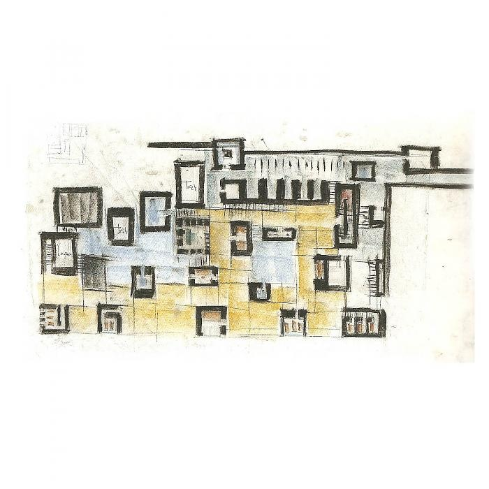 Peter Zumthor, sketch for Thermen in Vals.
