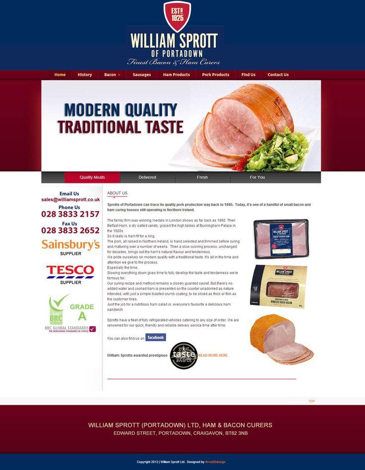 William Sprott Ltd - three60design Banbridge Northern Ireland - Web Design