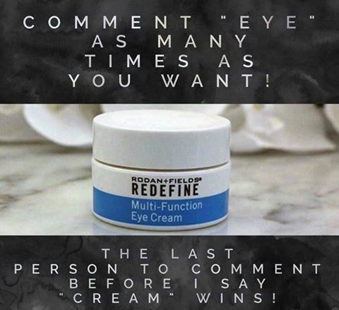 """Who wants a free R+F Multi Function Eye Cream.  Comment below """"eye""""  I will pick one winner.  Offer ends 11/30/16.  Message me on pinterest @ R+Fskincare101 for more info."""