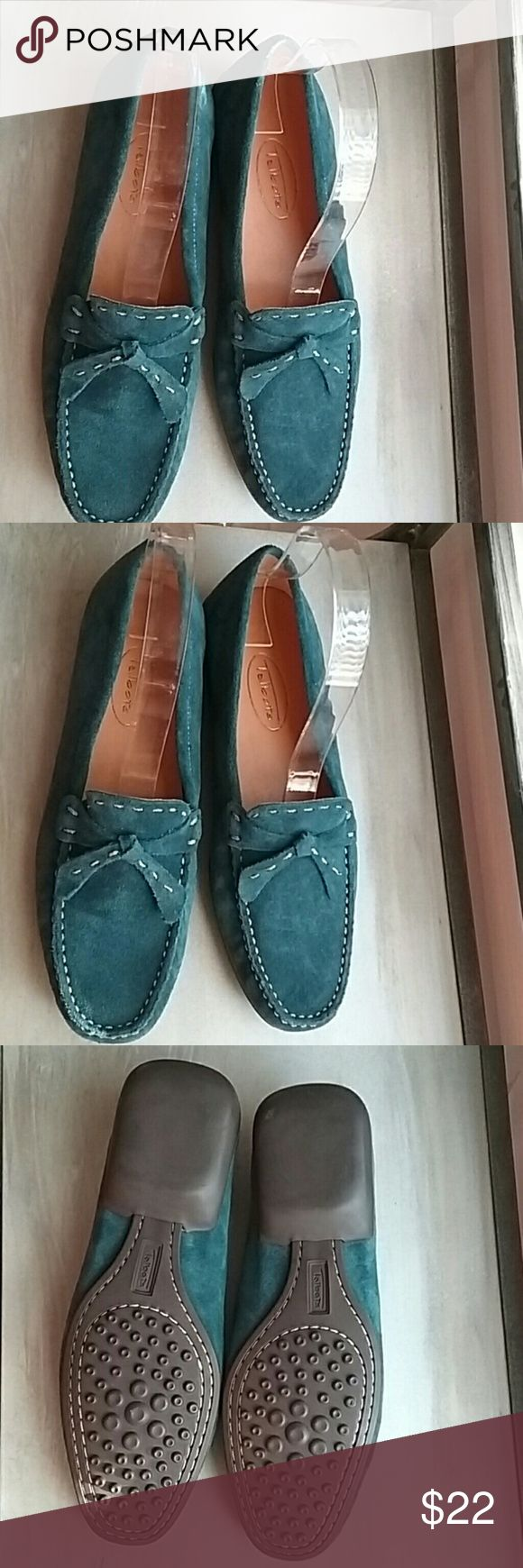 Talbots Turquoise Suede driving shoes Cute like new  Talbots Turquoise suefe driving shoes.  Like new Talbots Shoes Flats & Loafers