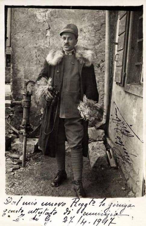 An elegant Italian officer