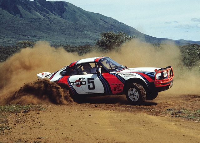 Porsche 911 Rally Car, tearing it up. Porsche Rally Race Speed