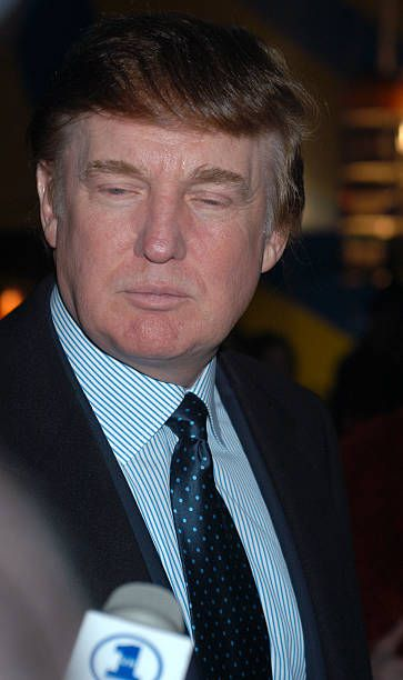 Donald Trump during Cirque du Soleil's 'Varekai' Grand Opening at Randall's Island Park in New York City New York United States