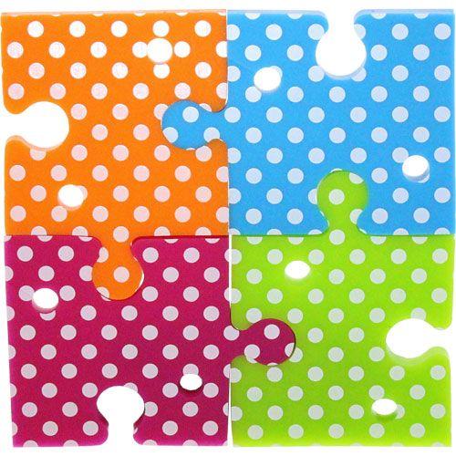 COD. 55469M InLine® Fascette specifiche per organizzare i cavi di cuffie con vivavoce. Forma a Puzzle, vari colore, Set da 4pz € 5,44