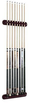 Ball and Cue Racks 75185: Viper Traditional Mahogany 8 Pool Cue Stick Wall Rack -> BUY IT NOW ONLY: $31.47 on eBay!