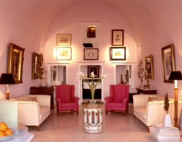 Tsitouras Collection: Firostefani on Santorini, winner of the Fodor's 100 Hotel Awards for the Local Flavor category #travel: Interior Design, Decor Ideas, Pink, House Stuff, Beautiful Room, House Decorations