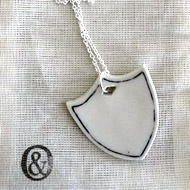 Salt dough charm for a necklace inspired by this photo.